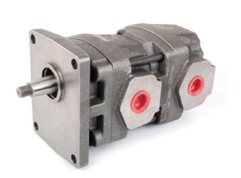 Dual Shaft Hydraulic Motor : Hydraulic tandem double gear pump for lih cherng hydrualic